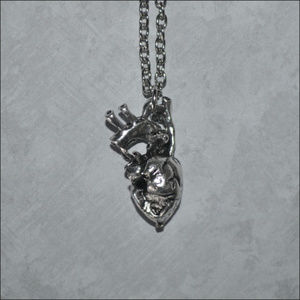Jewelry - Anatomical Heart Necklace - silver
